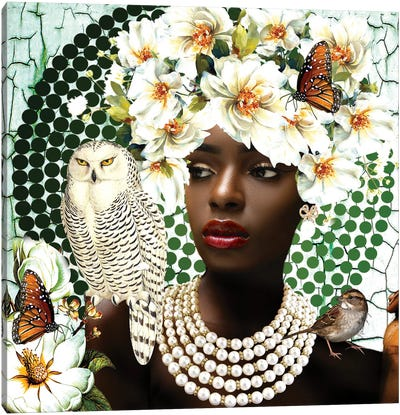 Pearls In Bloom Canvas Art Print