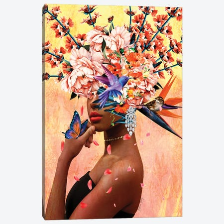 Luxurious - Women In Bloom Canvas Print #YCB41} by Yvonne Coleman Burney Canvas Wall Art