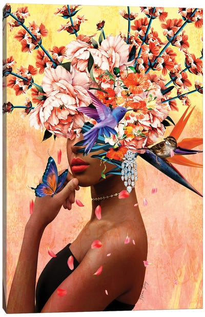 Luxurious - Women In Bloom Canvas Art Print