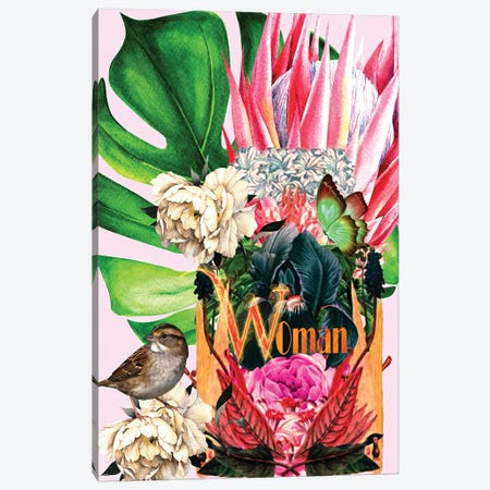 Woman - Woman In Bloom Canvas Print #YCB42} by Yvonne Coleman Burney Canvas Wall Art
