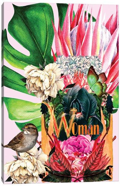 Woman - Woman In Bloom Canvas Art Print