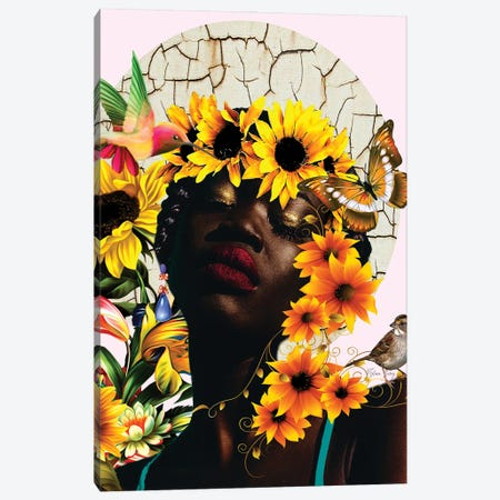 The Sunshine Of Nini -Women In Bloom Canvas Print #YCB43} by Yvonne Coleman Burney Canvas Artwork