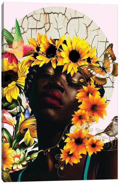 The Sunshine Of Nini -Women In Bloom Canvas Art Print