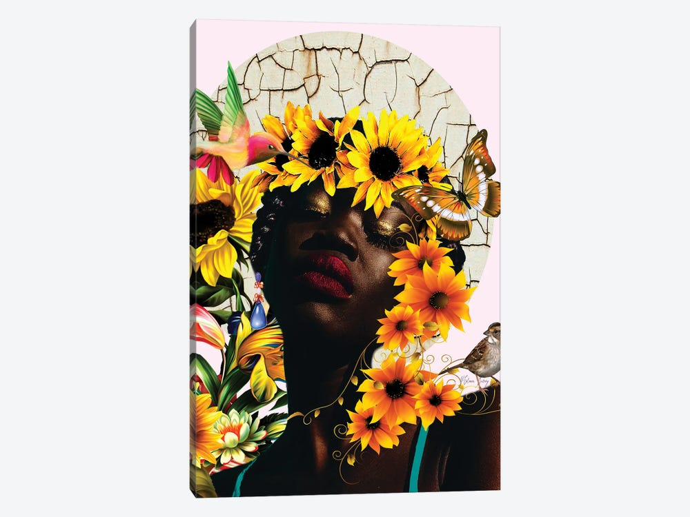 The Sunshine Of Nini -Women In Bloom by Yvonne Coleman Burney 1-piece Canvas Art