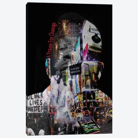 Black Lives Matter - A Prayer For Change Canvas Print #YCB45} by Yvonne Coleman Burney Canvas Print