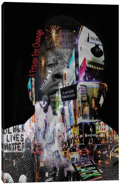 Black Lives Matter - A Prayer For Change Canvas Art Print