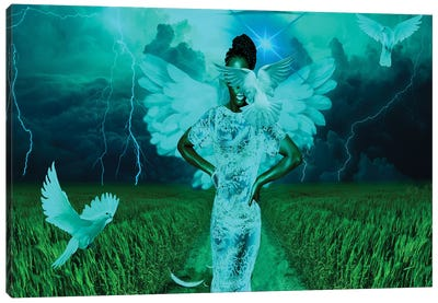Angel Of The Storm Canvas Art Print