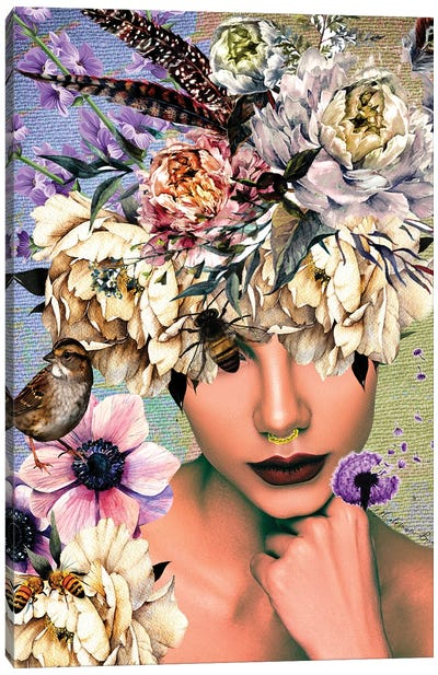 Women In Bloom - Bee Beautiful Canvas Art Print