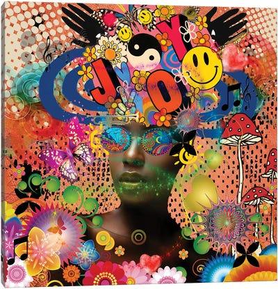 Joyful Noise - Afo-Pop Art Canvas Art Print