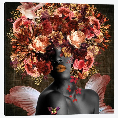 Angel In The Garden - Women In Bloom Canvas Print #YCB56} by Yvonne Coleman Burney Canvas Artwork