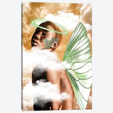 Ebony Angel Canvas Print #YCB6} by Yvonne Coleman Burney Canvas Artwork