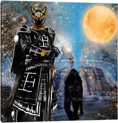 Egyptian Black Knight Canvas Art Print