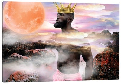 He's King Canvas Art Print