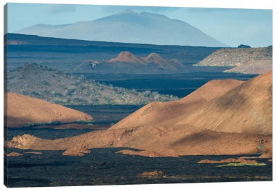 Ecuador, Galapagos Islands, Bartolome Island Volcanic Landscape. Canvas Art Print