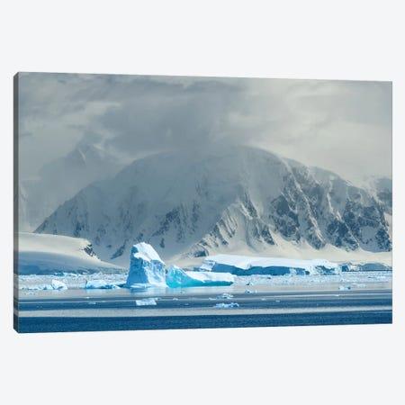 Antarctica, Antarctic Peninsula, Andvord Bay. Iceberg And Mountain Landscape. Canvas Print #YCH14} by Yuri Choufour Canvas Artwork