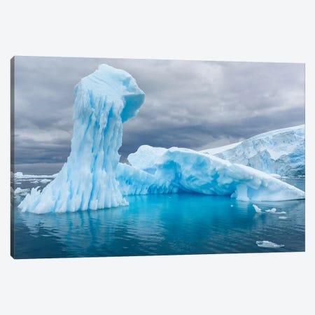 Antarctica, Antarctic Peninsula, Curtis Cove Icebergs. Canvas Print #YCH19} by Yuri Choufour Canvas Art Print