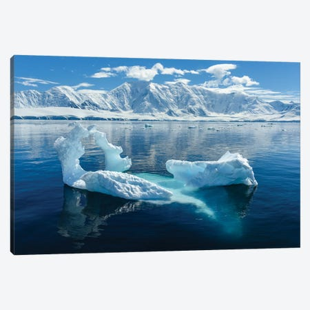 Antarctica, Antarctic Peninsula, Damoy Point. Glacial Ice, Mountains. Canvas Print #YCH20} by Yuri Choufour Canvas Wall Art