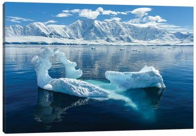Antarctica, Antarctic Peninsula, Damoy Point. Glacial Ice, Mountains. Canvas Art Print