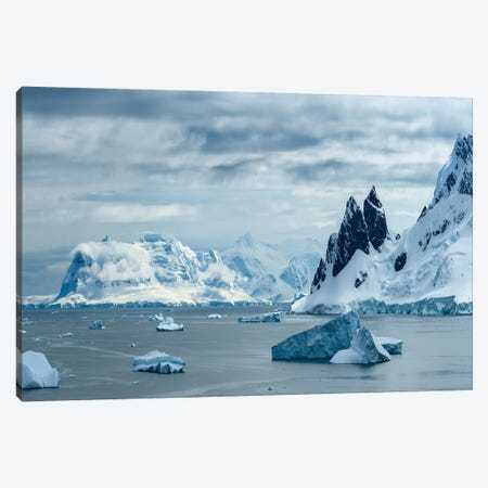 Antarctica, Antarctic Peninsula, Danco Island. Errera Channel Panorama. Canvas Print #YCH21} by Yuri Choufour Canvas Wall Art