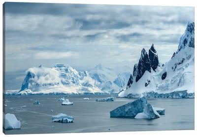 Antarctica, Antarctic Peninsula, Danco Island. Errera Channel Panorama. Canvas Art Print