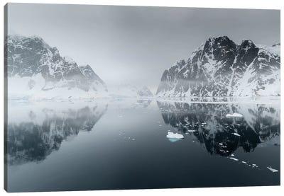 Antarctica, Antarctic Peninsula, Lemaire Channel. Mountain Reflection. Canvas Art Print