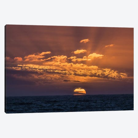 Antarctica, Drake Passage. Sunset And Seascape. Canvas Print #YCH30} by Yuri Choufour Canvas Art Print
