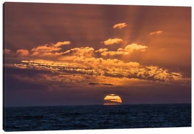 Antarctica, Drake Passage. Sunset And Seascape. Canvas Art Print
