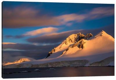 Antarctic Peninsula, Antarctica, Damoy Point. Landscape With Mountain. Canvas Art Print