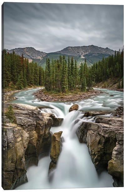 Canada, Alberta, Jasper National Park. Sunwapta Falls. Canvas Art Print