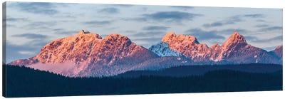 Canada, British Columbia, Golden Ears Provincial Park. Golden Ears Mountain Panorama. Canvas Art Print