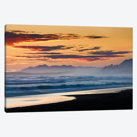 Canada, British Columbia, Tofino. Wickaninnish Beach Sunset. Canvas Print #YCH67} by Yuri Choufour Canvas Print