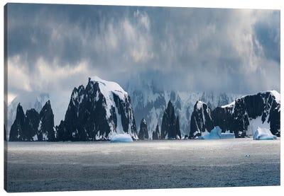 Antarctic Peninsula, Antarctica, Spert Island Panorama. Canvas Art Print
