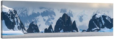 Antarctic Peninsula, Antarctica, Spert Island. Craggy Rocks And Mountains. Canvas Art Print
