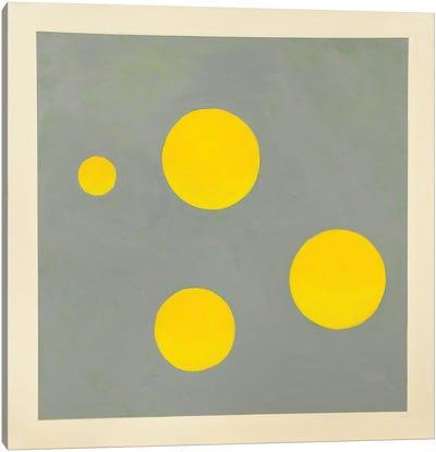 Four Golden Spheres Canvas Art Print