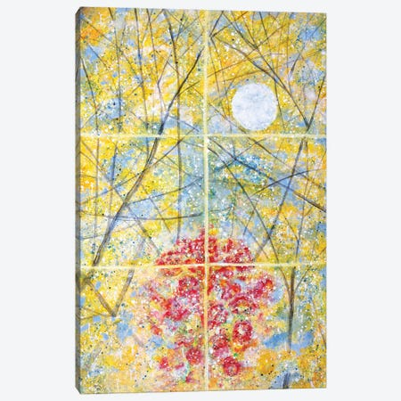 Relected Moon Rain and Roses  Canvas Print #YFS51} by Yolanda Fernandez-Shebeko Canvas Wall Art