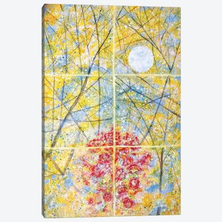Relected Moon Rain and Roses  Canvas Print #YFS51} by Yolanda Fernandez-Shebeko Canvas Wall Art