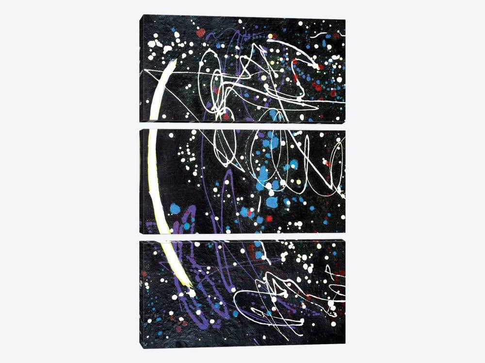 Ancient Communications  by Yolanda Fernandez-Shebeko 3-piece Canvas Print