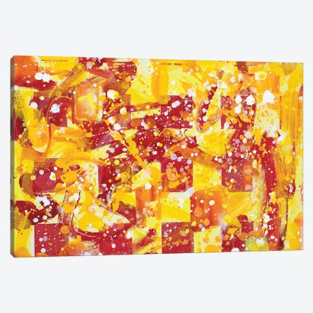 Magic Spell For Sun Using Six Red Squares Canvas Print #YFS81} by Yolanda Fernandez-Shebeko Art Print