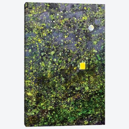 Japanese Lanscape With Window And Moon Canvas Print #YFS96} by Yolanda Fernandez-Shebeko Art Print