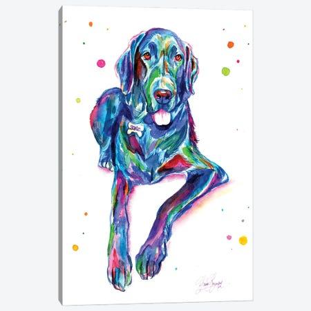 Colorful Great Dane Canvas Print #YGM11} by Yubis Guzman Canvas Art Print