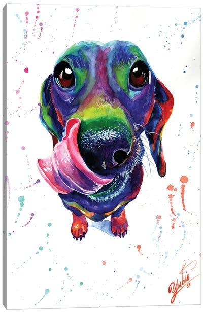Cute Dachshund Canvas Art Print