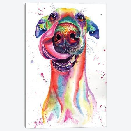Attractive Dog Canvas Print #YGM1} by Yubis Guzman Canvas Wall Art