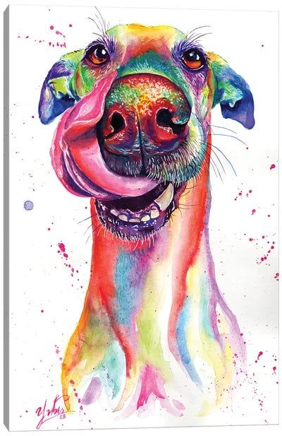 Attractive Dog Canvas Art Print