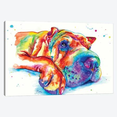 Dog Rest Canvas Print #YGM22} by Yubis Guzman Canvas Wall Art