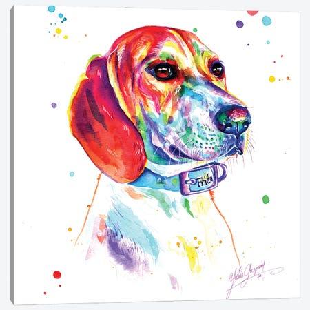 Hunting Dog Canvas Print #YGM25} by Yubis Guzman Art Print
