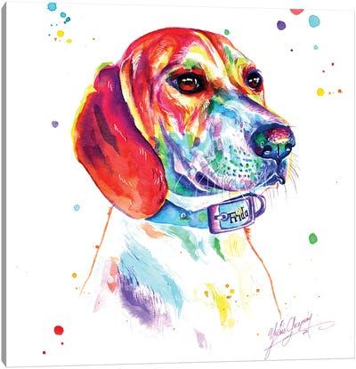 Hunting Dog Canvas Art Print