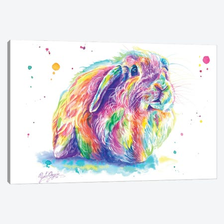 Little Bunny Canvas Print #YGM26} by Yubis Guzman Art Print