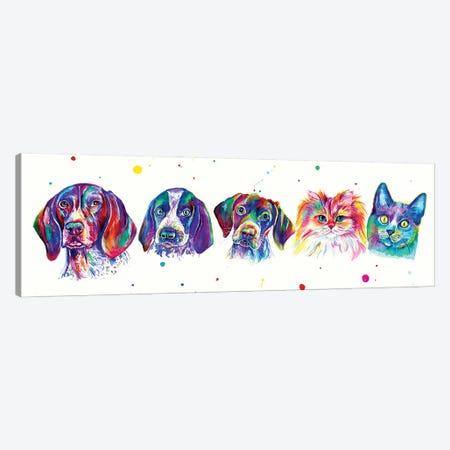 Pets Family Canvas Print #YGM27} by Yubis Guzman Canvas Print