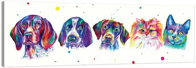Pets Family Canvas Art Print