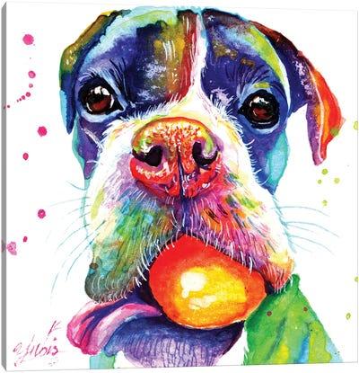 Playful Puppy Canvas Art Print